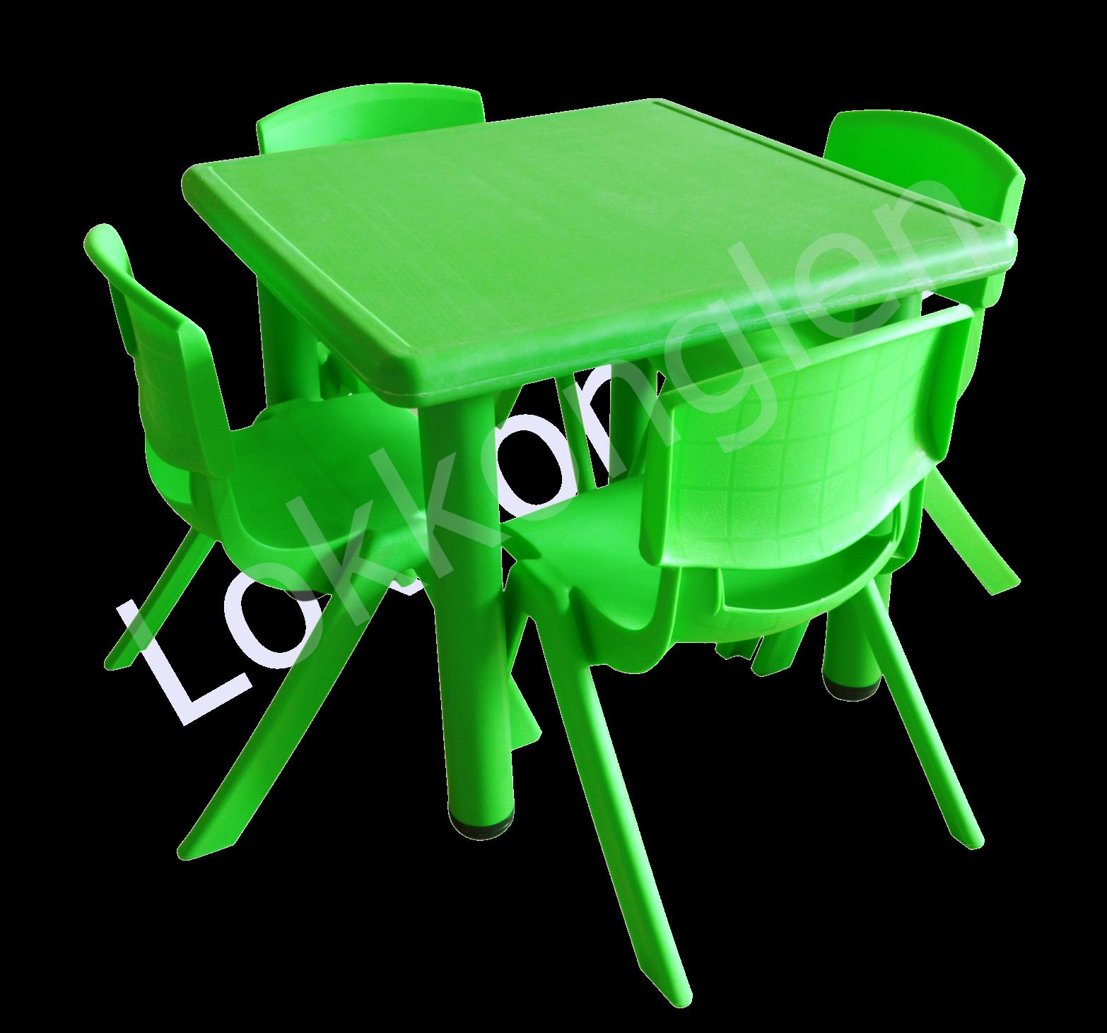 ชุดโต๊ะสี่เหลี่ยมจตุรัส สีเขียว